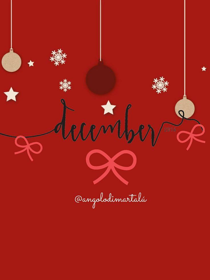 Buongiorno Dicembre! #goodmornig #december #ciao #dicembre #winter #inverno #natale #sfondo #telefono