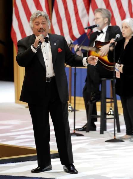 Tony Orlando performs at The Salute To Our Armed Services Inaugural Ball, Friday, Jan. 20, 2017, in Washington.
