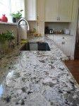 Alaska White Granite Countertops with Ogee Edge | The Stone Cobblers