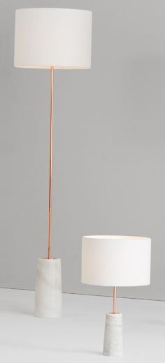 Rita floor lamp and table lamp made com you cant beat natural materials for a luxurious design by using beautiful marble each of our rita floor lamps