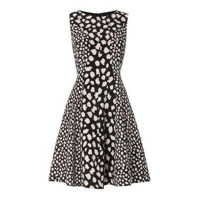 Biba Monochrome Leopard Fit And Flare Dress