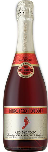Red Moscato Bubbly TASTES & DELIGHTS This bubbly bursts with the aromas of jasmine and mandarin orange, complemented by dark cherry, pomegranate and blueberry for a sweet and juicy finish.  TIME TO UNCORK Tuesday night takeout.  PERFECT PARTNERS It's the perfect addition to antipasto or pizza.