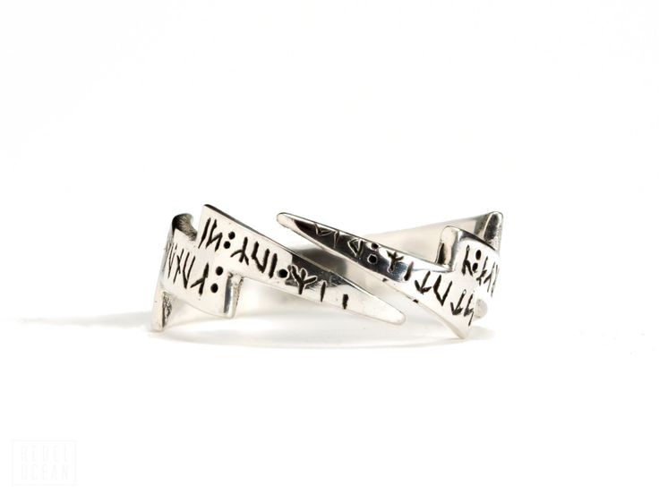 Lightning Ring Adjustable Sterling Silver Wrap Ring Boho Jewelry - FRI004  SS T2