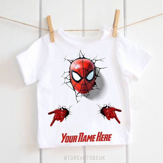 Spider Man children's T-shirt  personalised Tshirt