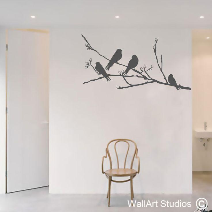Birds on a blossom branch