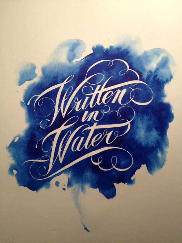 Simply amazing lettering & calligraphy work complemented by a rich blue watercolour visual. Love.