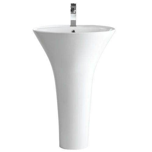 Pure one piece basin and pedestal - question is the washbasin larger enough for practical purposes?