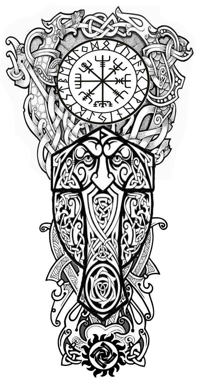 Pin by Sabrina Carlsen on beautiful heathen heart | Viking ...Norse Viking Tattoo Designs