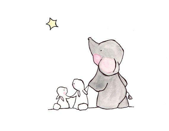 Elefante y conejo