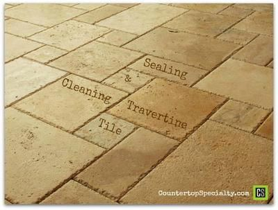 Travertine tile tips and answers about cleaning & sealing travertine flooring, showers and countertops.   http://www.countertopspecialty.com/travertine-maintenance-sealing-cleaning-answers.html