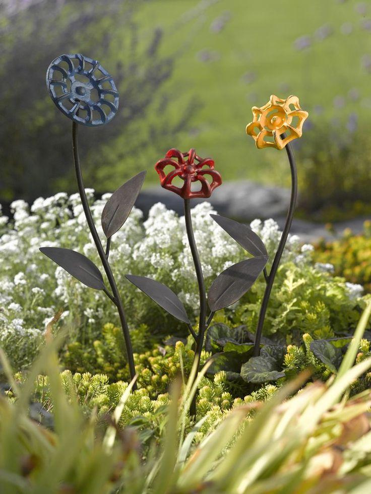 Faucet Handle Flowers - Metal Garden Art   Gardener's Supply
