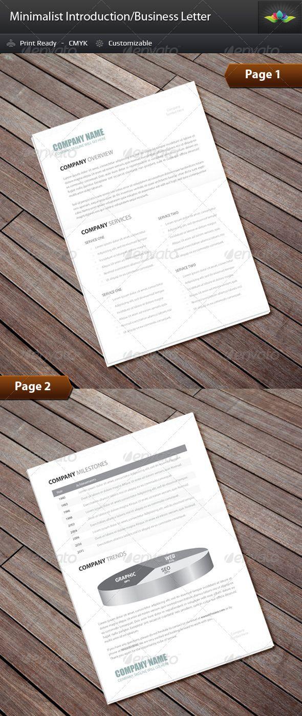 Minimalist Business/Introduction Letter