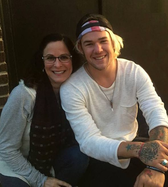 Roberta Pacino with her nephew James Durbin at his Denver, CO  performance July 2016.