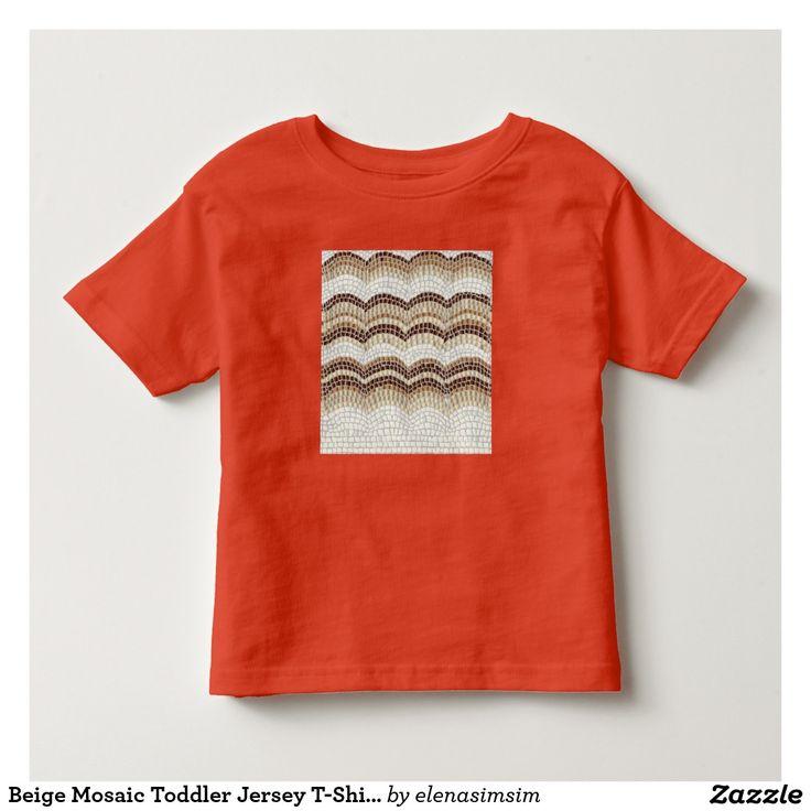Beige Mosaic Toddler Jersey T-Shirt