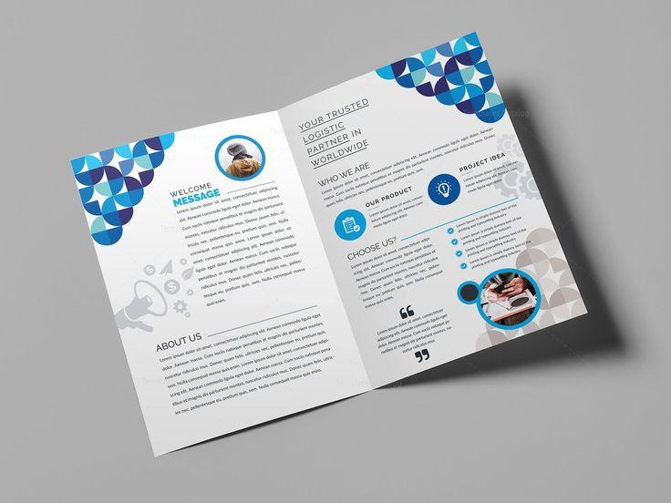 Fancy Bi-Fold Brochure Template 000723