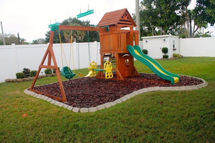 Playground edging backyard ideas pinterest playgrounds for Home playground design ideas