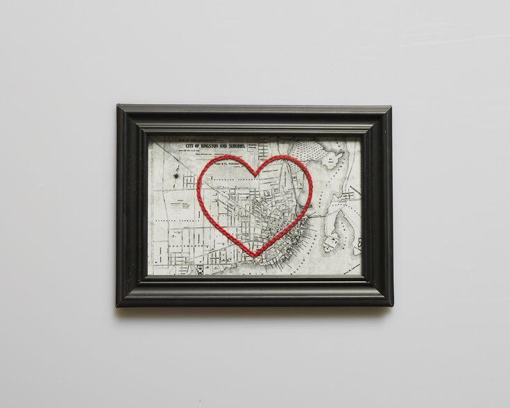Kingston Stitched Heart Map #pintowinMH