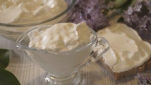 Фото к рецепту: Майонез на молоке без яиц. Получается всегда, Готовится за 30 секунд!