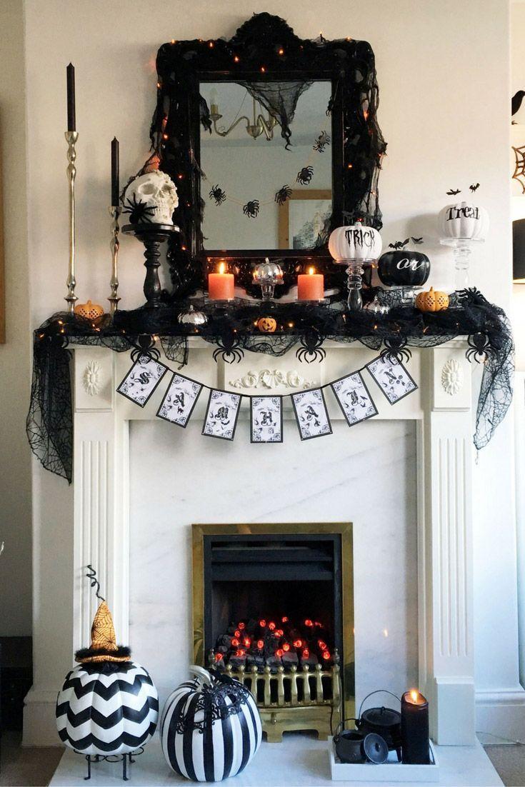 Halloween Decor 2016 In 2020 Halloween Decorations Indoor Halloween Mantel Halloween Mantel Decor