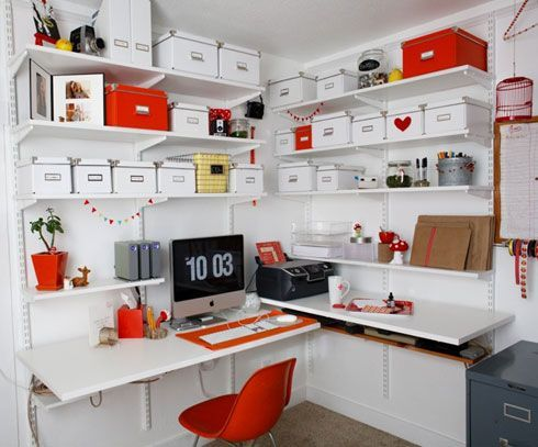 Perfect Office Ideas, Incredible Home Office Interior Design Examples With Creative  Storage Ideas: Creative Ideas Home Office Furniture With Cozy Style