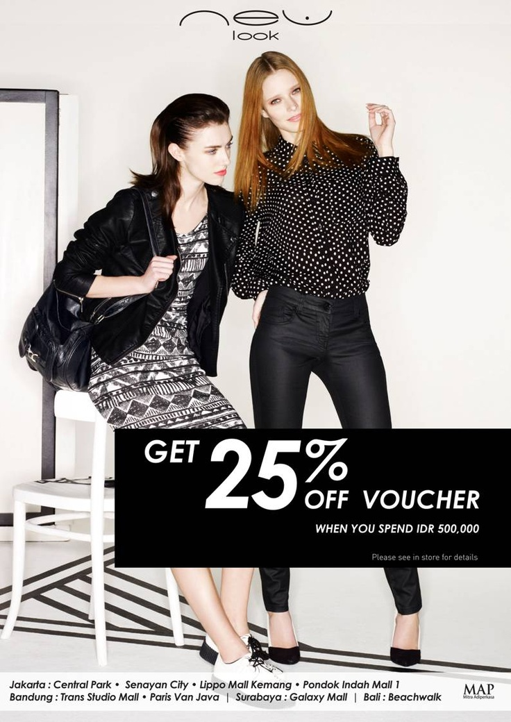 Get 25% off Vouchers when u shop at New Look!*