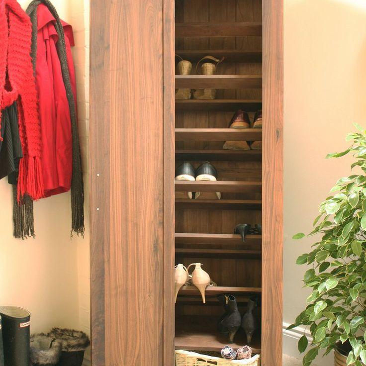 strathmore solid walnut furniture shoe cupboard cabinet. Shiro Solid Walnut Tall Shoe Cupboard Strathmore Furniture Cabinet