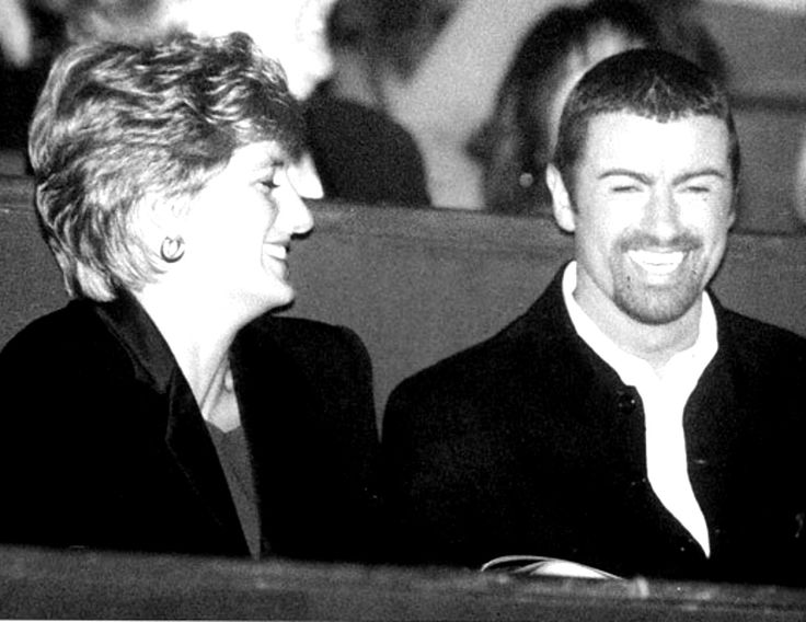 shydi:  Princess of Wales and singer George Michael (June 25,1963-December 25, 2016), who has died at the age of 53