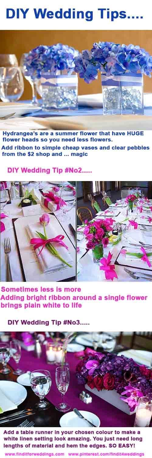 #DIY #wedding decoration table settings #infographic www.finditforweddings.com