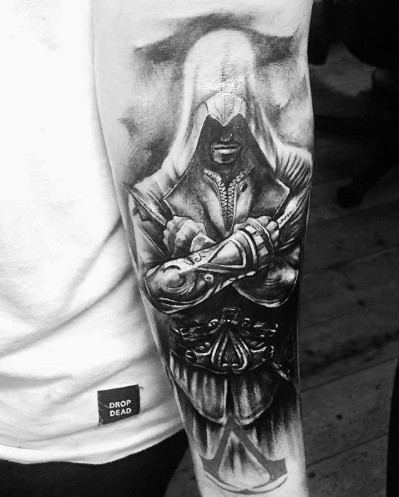 152e1785315bc 60 Assassins Creed Tattoo Designs For Men - Video Game Ink Ideas ...
