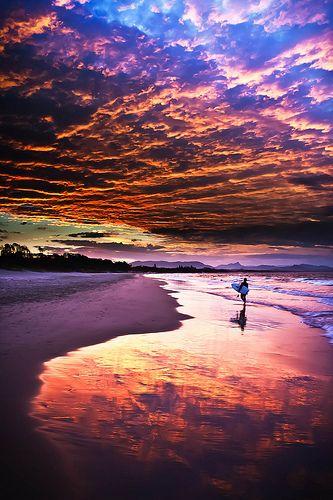 Byron Beach Sunset, Australia #City_Edge_Apartment_Hotels   #Cityedge    http://www.cityedge.com.au
