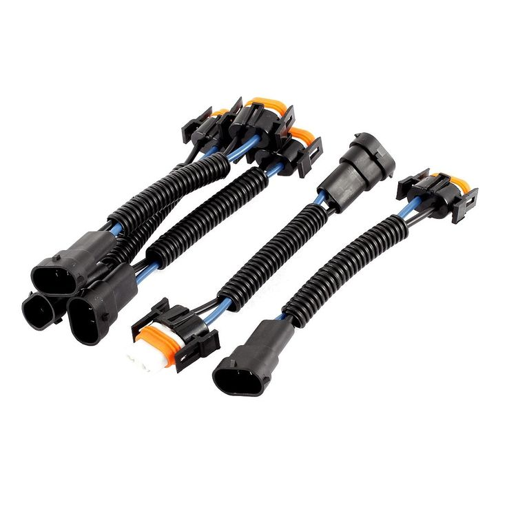 Unique Bargains Car Headlight H11 Male Female Socket Harness Wiring Plastic Connector Plug 5 Pcs