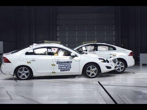 2012 Volvo S60 into 2012 Volvo S60 64 km/h Small Overlap Collinear Crash Test [IIHS] – YouTube