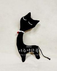 [애견/애묘 장난감] 검은 고양이 이로 - 방울 장난감 /소리나는 놀이장난감 /고양이모양장난감/강아지장난감/고양이장난감/애견장난감/봉제인형/핸드메이드/공방 이주영한복