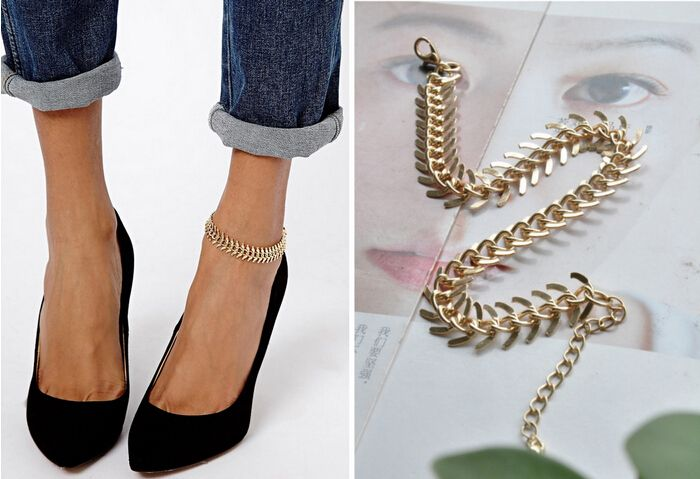 Fishbone Chain Anklets Bracelet