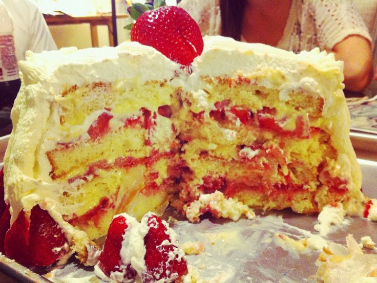 Beene's Baking Blog: Strawberry Custard Cassata Cake - Corbo's Inspired