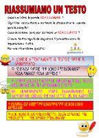 Giochi e colori ! Schede didattiche del Maestro Fabio: IL RIASSUNTO : guida al riassunto classe seconda scuola primaria (Schede didattiche)