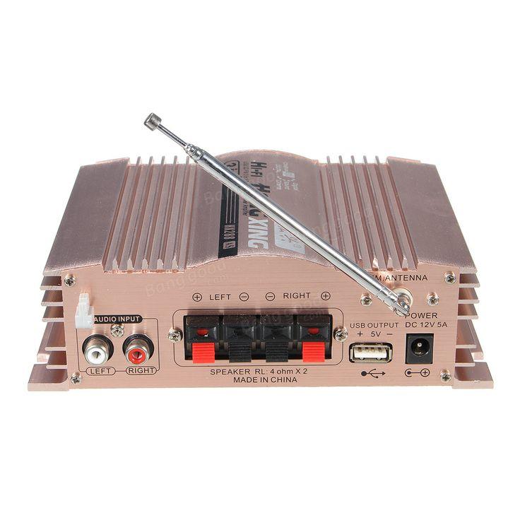 Mini Hi-Fi 600W 2 CH Stereo Audio Power Amplifier USB SD FM for Car Auto Motorcycle Sale - Banggood.com