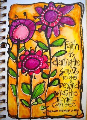"""faith""…©joanne sharpe 2011: Art Journalsmashbook, Art Inspiration, Comic Books, Mixed Media, Favorite Quotes, Inspiration Quotes, Bright Colors, Joanne Sharp, Faith Quotes"