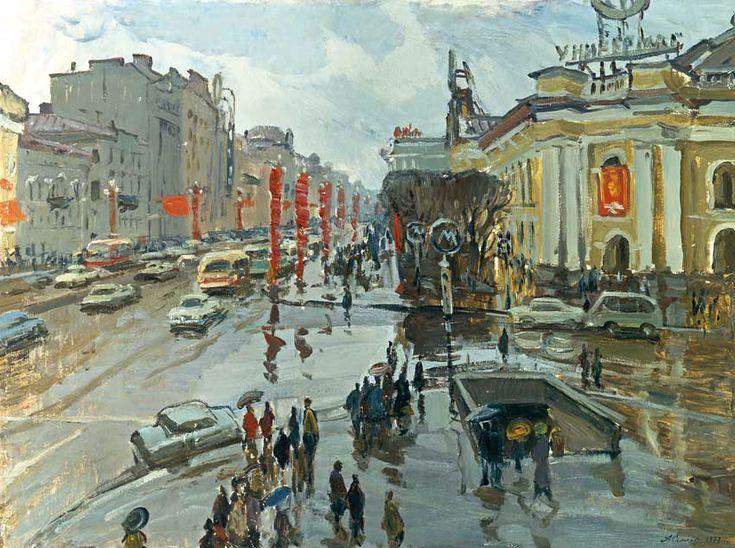 Александр Семенов (1922-1984) Невский проспект, 1977