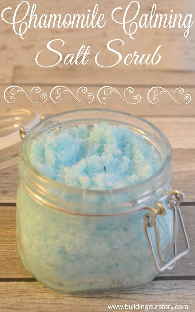 Chamomile Calming Salt Scrub #ad, #EarthlyElements, Chamomile Calming Salt…