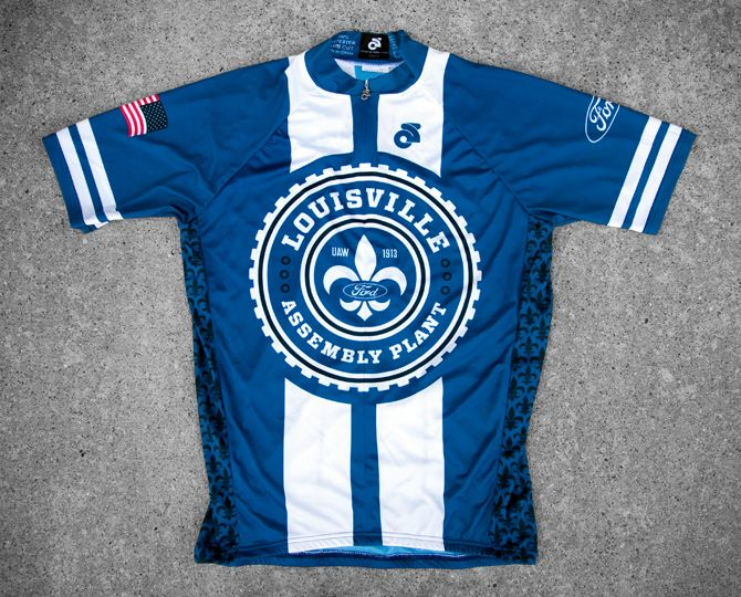 Ford cycling jersey designed for the Louisville Assembly Plant.