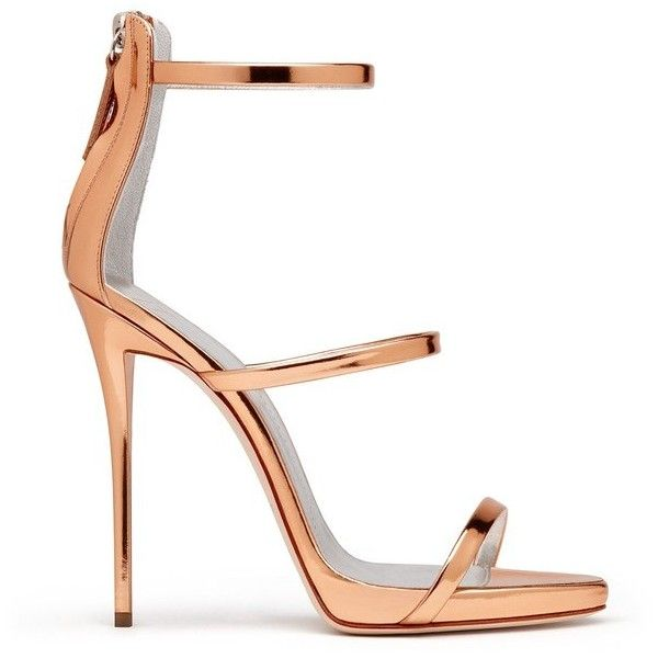 Giuseppe Zanotti Harmony ($845) ❤ liked on Polyvore featuring shoes, sandals, gold, high heels, strappy high heel shoes, platform sandals, strap sandals, strappy high heel sandals and zipper shoes