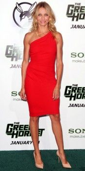 cameron-diaz-in-a-poppy-one-shoulder-azzaro-dress-with-c-greene-gold-hoops-casadei-pointy-toe-heels