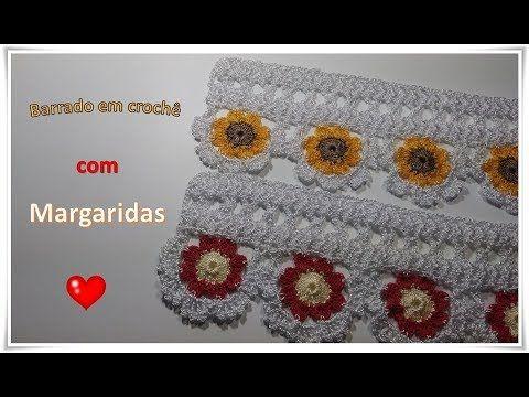 Youtube Barradinhos E Bicos De Croche Pinterest