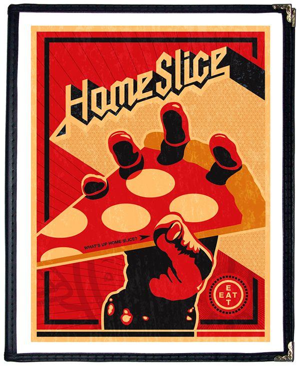 Home Slice Pizza Menu Covers: Album Art