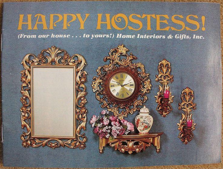 Home Interiors & Gifts Happy Hostess 1980's Catalog Brochure #9960 Vol.11 No.2