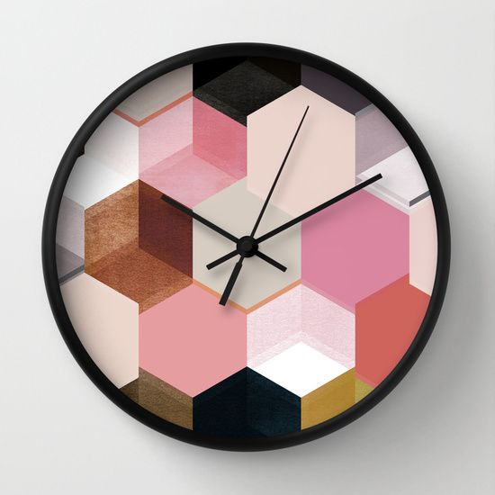 colour+++pattern+17+Wall+Clock+by+Georgiana+Paraschiv+-+$30.00