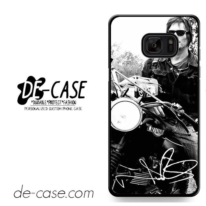Norman Reedus And His Bike DEAL-8018 Samsung Phonecase Cover For Samsung Galaxy Note 7