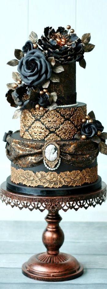 Victorian Gothic Wedding Cake