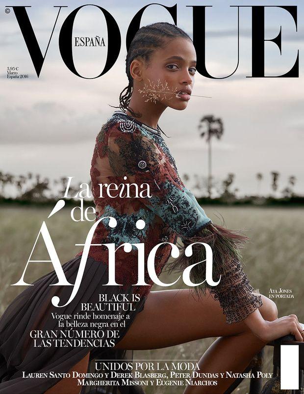 #VogueMarzo es puro 'black power' © Fotografía: Nico Bustos / Realización: Belén Antolín